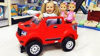 Roma e Diana vão na loja de brinquedos