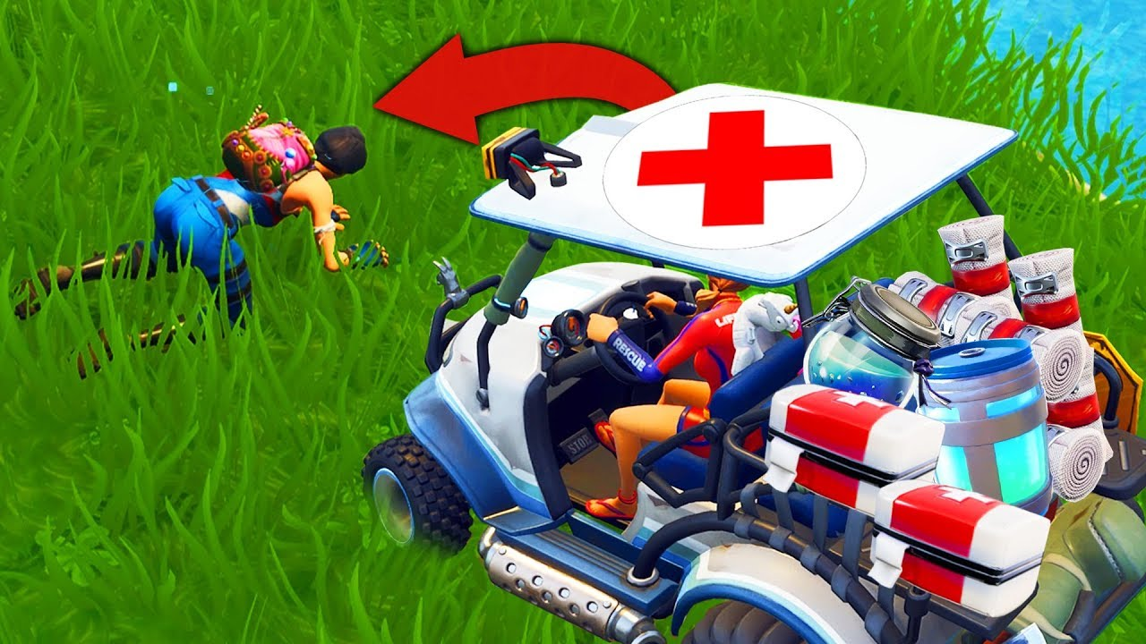 Heroic AMBULANCE CHALLENGE in Fortnite Battle Royale