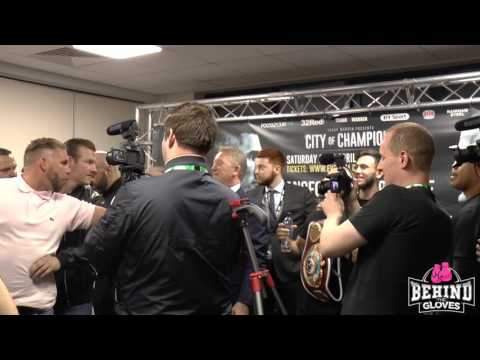 SAUNDERS AND KHURTSIDZE BEEF AS BOTH MEN KICK OFF AT POST FIGHT PRESS CONFERENCE!