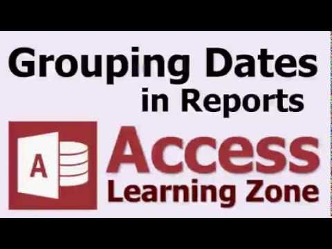 How to Group Records by Dates (Year, Month, etc ) in Microsoft Access  Reports
