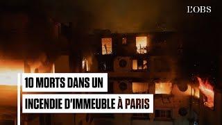 Les impressionnantes images des pompiers au cœur de l'incendie du 16e arrondissement de Paris
