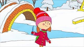 Мультик-Раскраска с Царевной - Зимние забавы - Развивающие мультфильмы для малышей