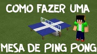 Minecraft PE: Como Fazer Uma Mesa de Ping Pong