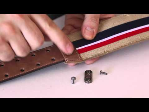 How to Adjust your guitar or bass strap by RightOn! Straps - Strap Adjustment System - RAS