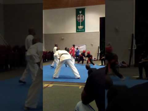 Cameron ( Leonardo) Newman Sparring being judged by his Sensei
