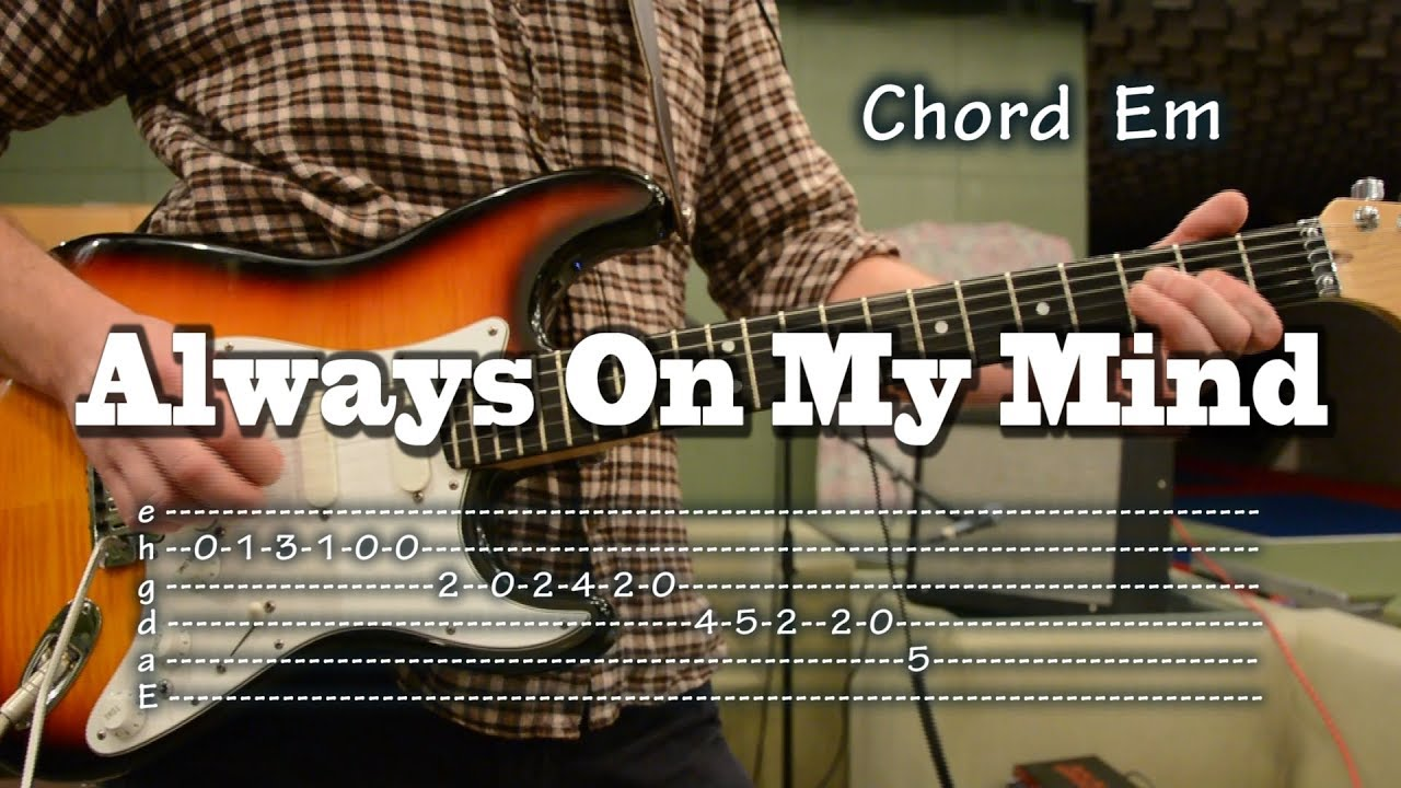 Always On My Mind Guitar Tab And Chords Como Tocar Lesson