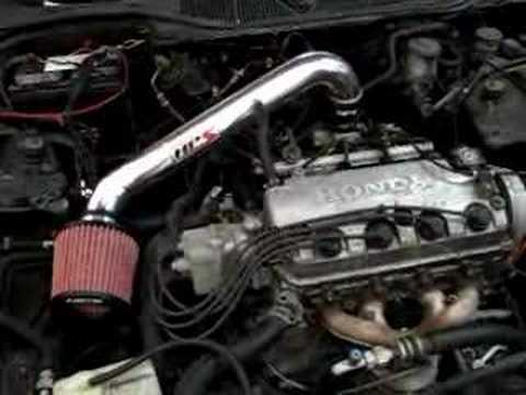 HPS Shortram Air Intake Kit Honda 96-00 Civic DX CX LX D16 - YouTube