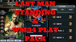 LAST MAN STANDING! & WM34 PLAT PACK!!   |   WWE Supercard #79 (Season 4)