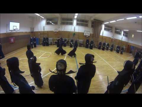 Uchikomigeiko combo demo by students from Kokushikan University, Tokyo