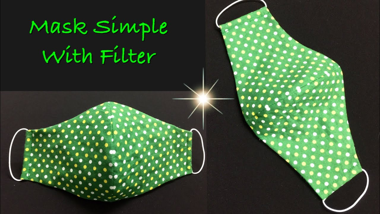 Simple mask form with filter pocket, make quickly!