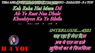 Tera Mera Pyar Amar - Karaoke With Scrolling Lyrics Eng. & हिंदी