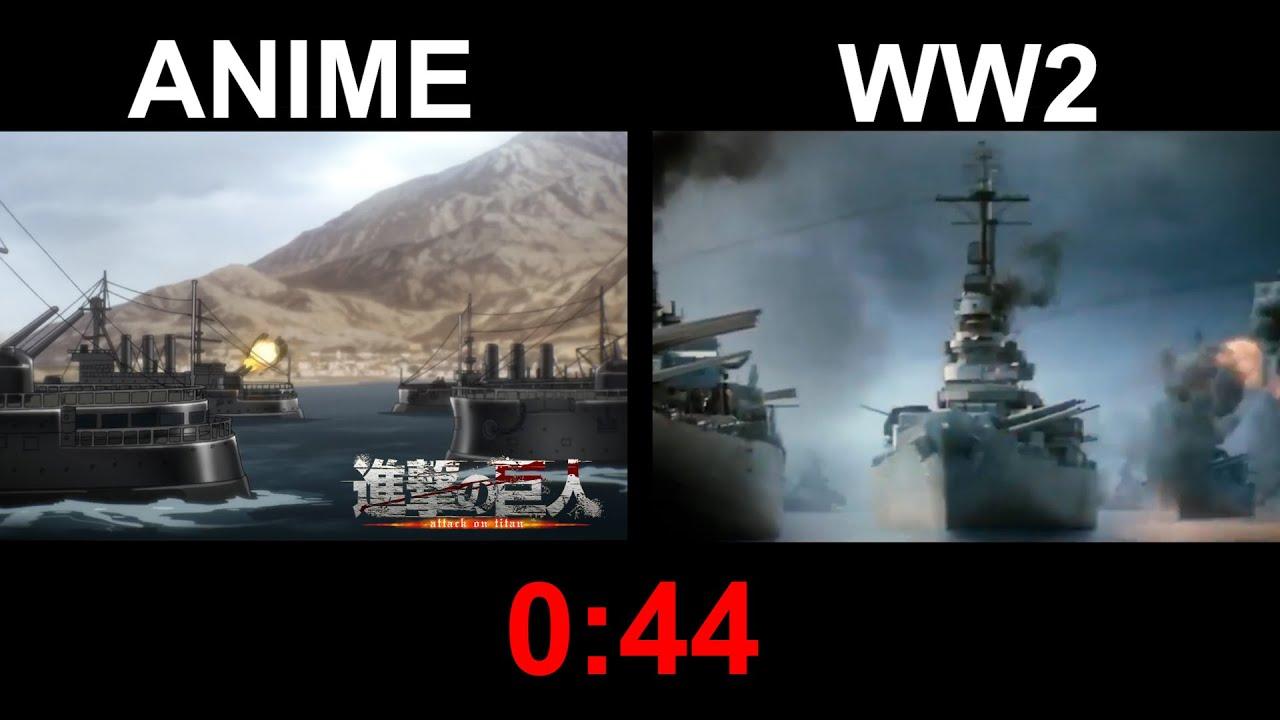 ATTACK ON TITAN: ANIME vs WWII [COMPARISON]