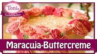 Maracuja-Buttercreme Torte mit Vintage-Deko // Tonis Tortenzauber #0017