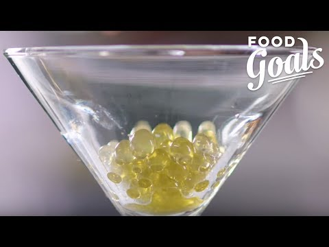 How to Make Dirty Martini Olive Pearls with Reverse Spherification | Food Network