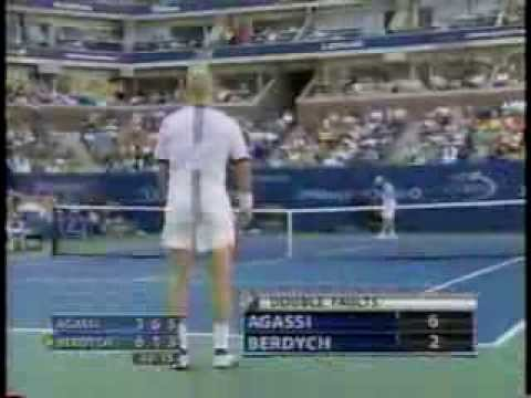 Berdych vs Agassi US Open 2005