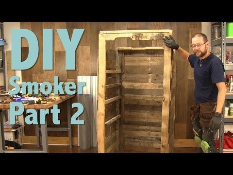 How to Build a Smokehouse With Pallets Part 2 of 3