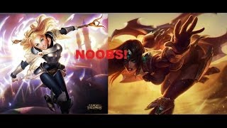 Lux & Sivir Noobs!  - League of legends (Derrota)