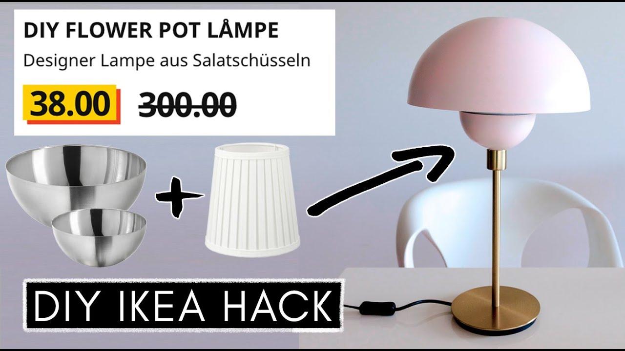 Diy Ikea Hack Designer Flowerpot Lampe Einfach Gunstig Selber