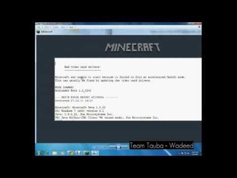 Minecraft Bad Video Card Driver Fix Windows 7/8