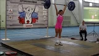 Тяжелая атлетика. Weightlifting. Девушки. Women. Алтайский край. Barnaul. 23.12.2017