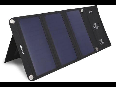 test snan 21w solar ladeger t dual usb youtube. Black Bedroom Furniture Sets. Home Design Ideas