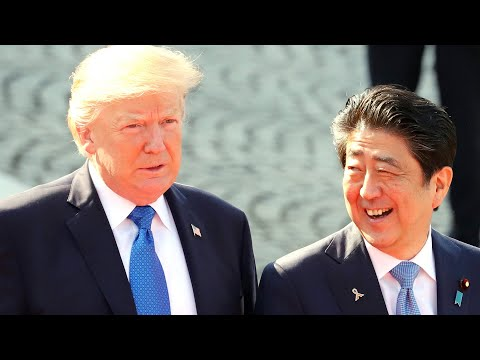 Trump participates in joint news conference with Japan's Prime Minister