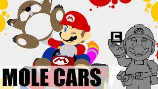 5 Designs for Drivable Monty Mole Cars in Super Mario Maker!