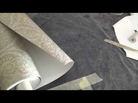 Оклейка текстильными обоями (pasting of textile wallpaper)