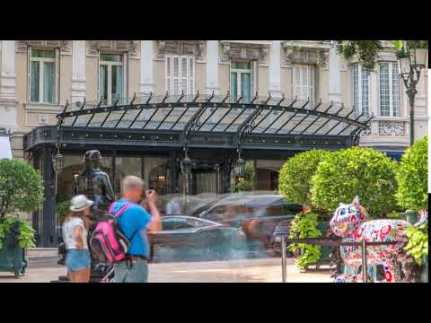 Hotel Hermitage in Monte Carlo timelapse, Monaco