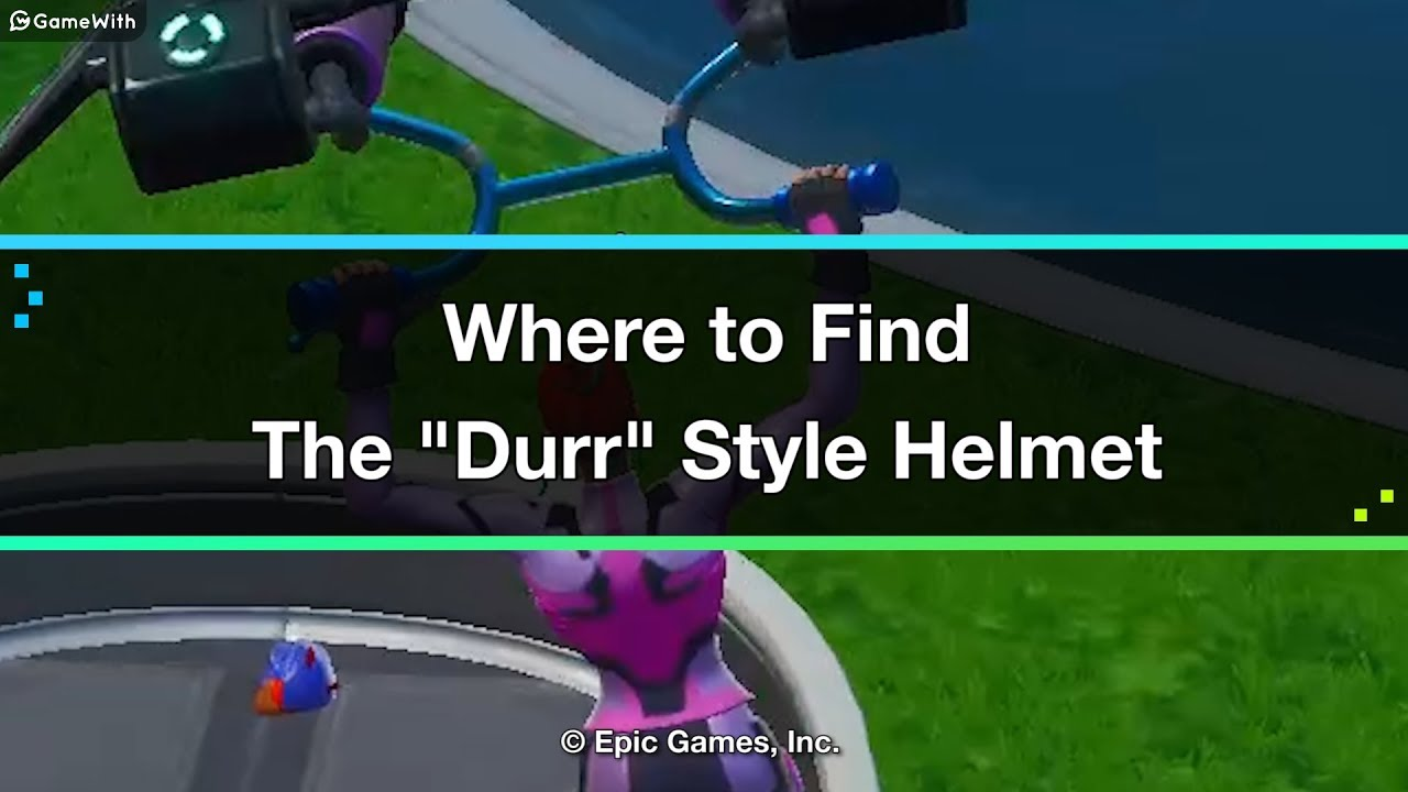 Fortnite Singularity Durr Style Helmet Location