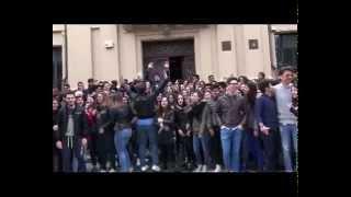 Locri - Manifestazione di protesta degli studenti Liceo