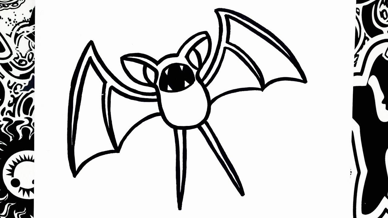 como dibujar a zubat | pokemon | how to draw zubat - YouTube