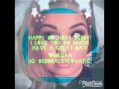 Happy 23rd Birthday Debby Ryan - YouTube