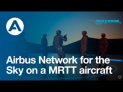 Airbus Network for the Sky on a MRTT aircraft.
