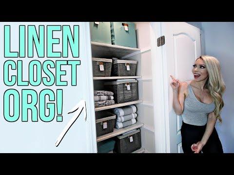 Linen Closet Organization!