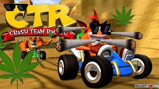 ctr crash team racing loquendo tremenda troleada a n cortex