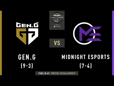 Gen.G vs Midnight Esports | CWL Pro League 2019 | Division A | Week 7 | Day 2
