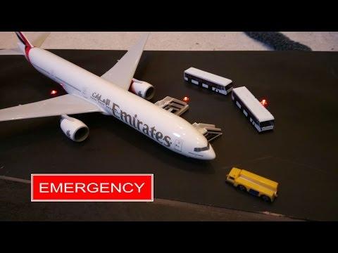 Model Airport Emergency | Emirates 777-300ER | Charlex Intl Airport