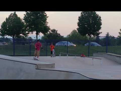World's best kids on Skateboards at wheel park in Denver Colorado.