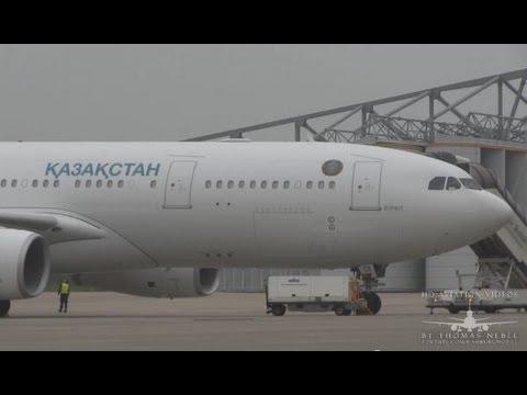 ✈[Full HD] A330-243 Kazakhstan Government FOGGY Landing @ Hamburg Airport