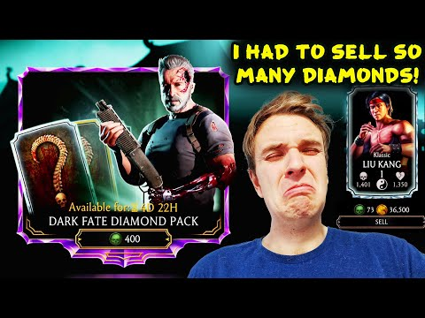 MK Mobile. MASSIVE Dark Fate Terminator Pack Opening On Two INSANE Accounts. Selling Diamonds HURTS!