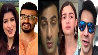 Bollywood Celebs FUNNY Live Video Promoting Sonam's Zoya Factor Movie- Ranbir, Alia, Varun, Arjun