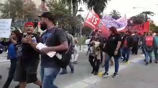 Video: Los docentes del CEDEMS se dirigen a la Ciudad Cultural para repudiar la presencia de Mauricio Macri