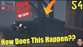 DRIVING OFF A BRIDGE!! Friday the 13th Gameplay #54
