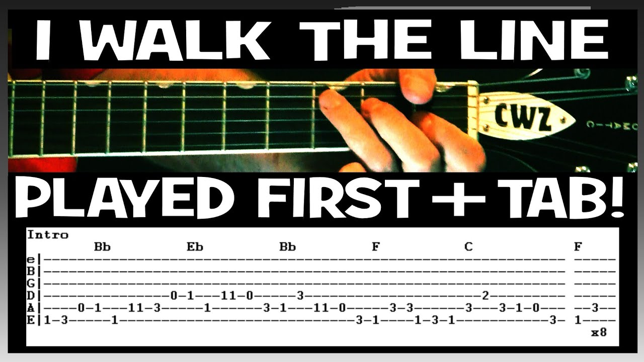Johnny Cash I Walk The Line Guitar Chords Lesson & Tab Tutorial