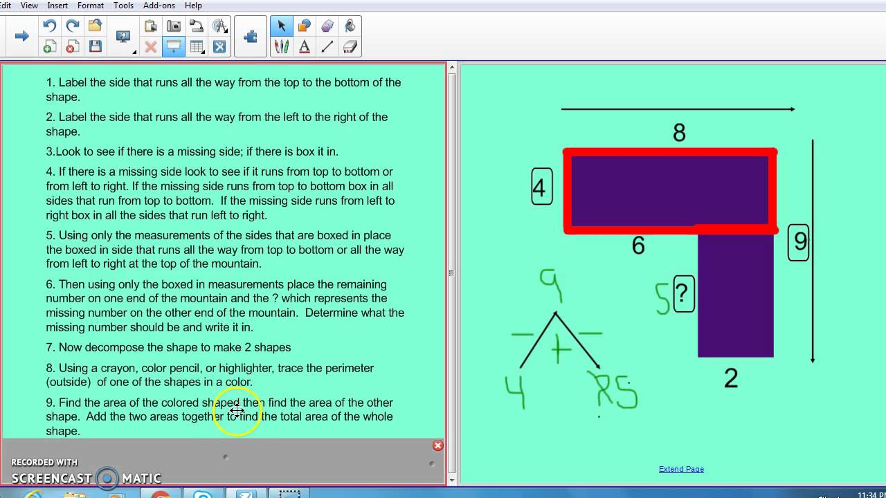 Finding the area or rectilinear shapes with missing sides 2 youtube finding the area or rectilinear shapes with missing sides 2 ccuart Image collections