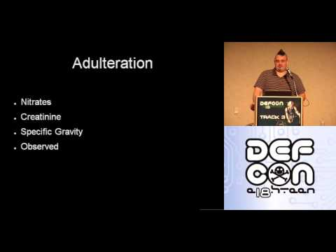 DEF CON 18 - Jimi Fiekert - The Anatomy of Drug Testing