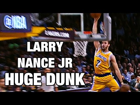 Larry Nance Jr HUGE Dunk Down The Lane Against Golden State!