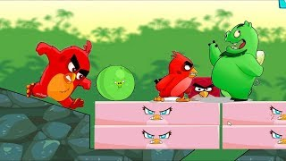 Angry Birds Kick Piggies - BAD PIGGIES VS RED AND STELLA