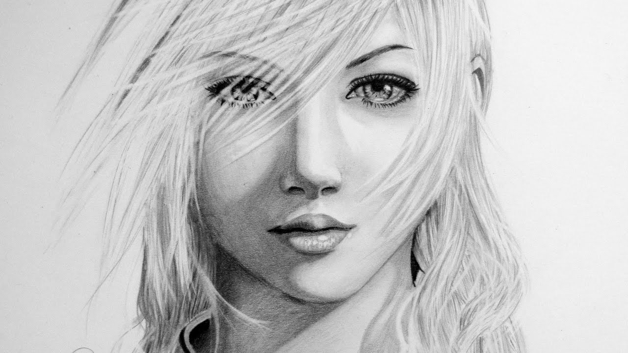 Lightning From Final Fantasy Xlll Speed Drawing Youtube